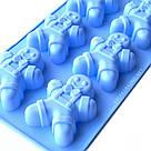 Силиконовая форма для выпечки в духовке - пряничный человечек (голубой), фото 4
