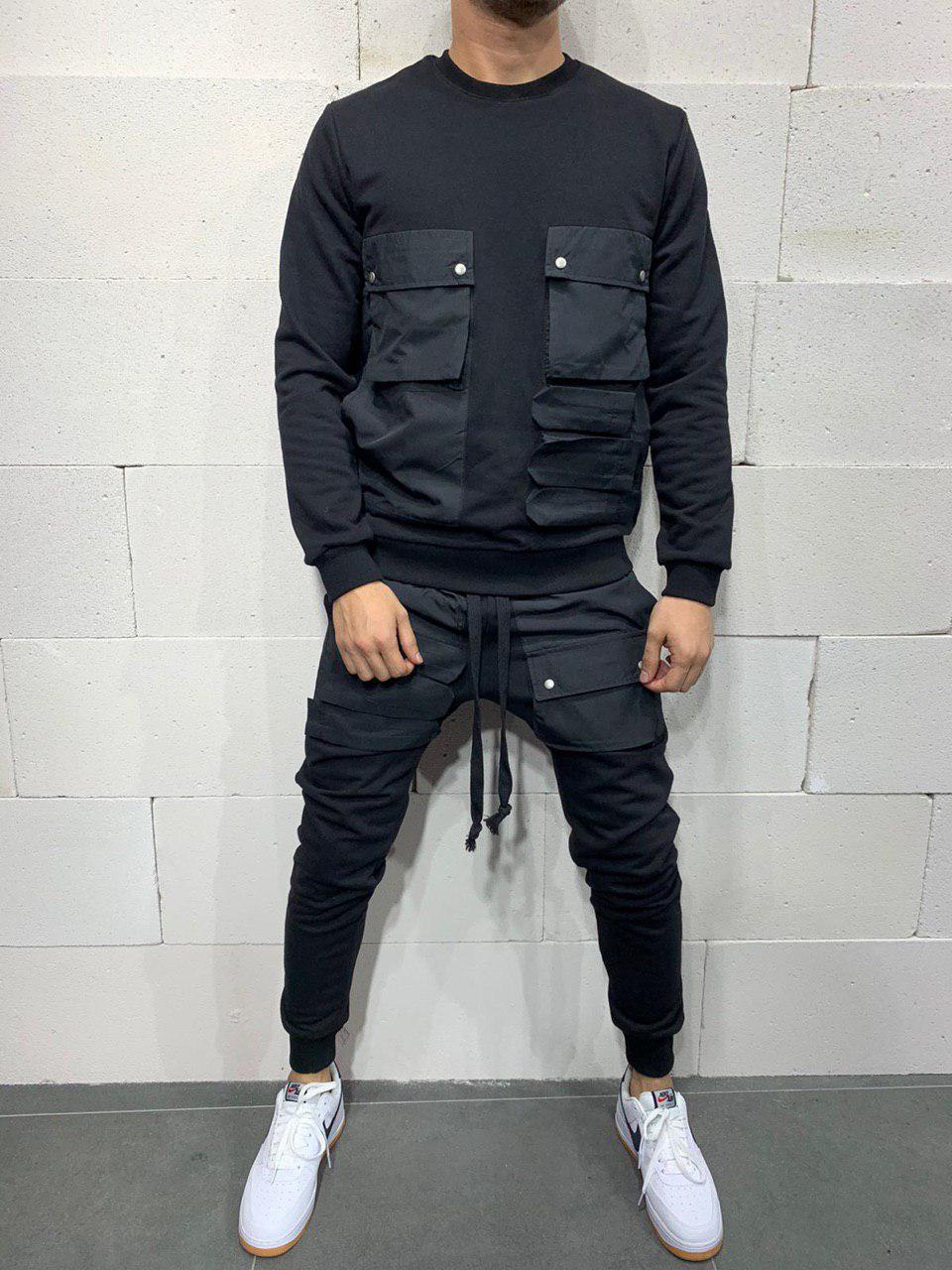 Чоловічий спортивний костюм 2Y Premium brs5115 black