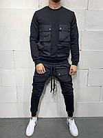 Чоловічий спортивний костюм 2Y Premium brs5115 black, фото 1