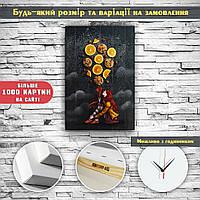 Необычный декор на стену в кухню картина печать на холсте Апельсины Цукаты 60х40, фото 1