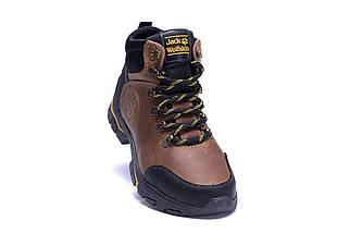 Мужские зимние кожаные ботинки в стиле Jack Wolfskin Outdoor Olive, фото 2