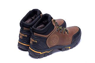 Мужские зимние кожаные ботинки в стиле Jack Wolfskin Outdoor Olive, фото 3
