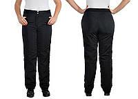 Женские спортивные штаны из плащевки на флисе размеры 52-56