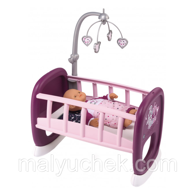 Колыбель Smoby Toys Baby Nurse Прованс с мобилем 47 см (220343)