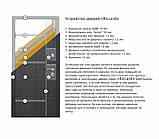 Дверь входная Омис Лагуна ТМ Riccardi 2050х960 мм дуб беленый, фото 3