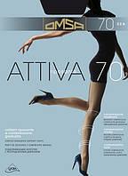 Колготки женские Omsa Attiva 70 den, все размеры, в се цвета, колготки Golden lady