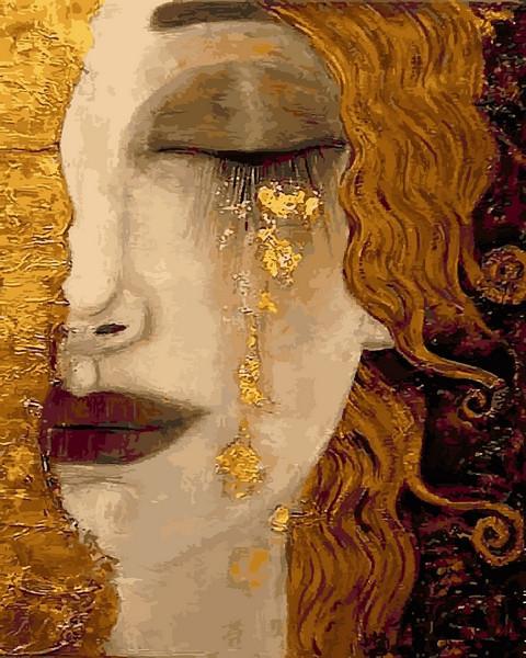 Картина за номерами 40×50 див. Babylon Золоті сльози Художник Анна-Марі Зільберман (VP 1189)