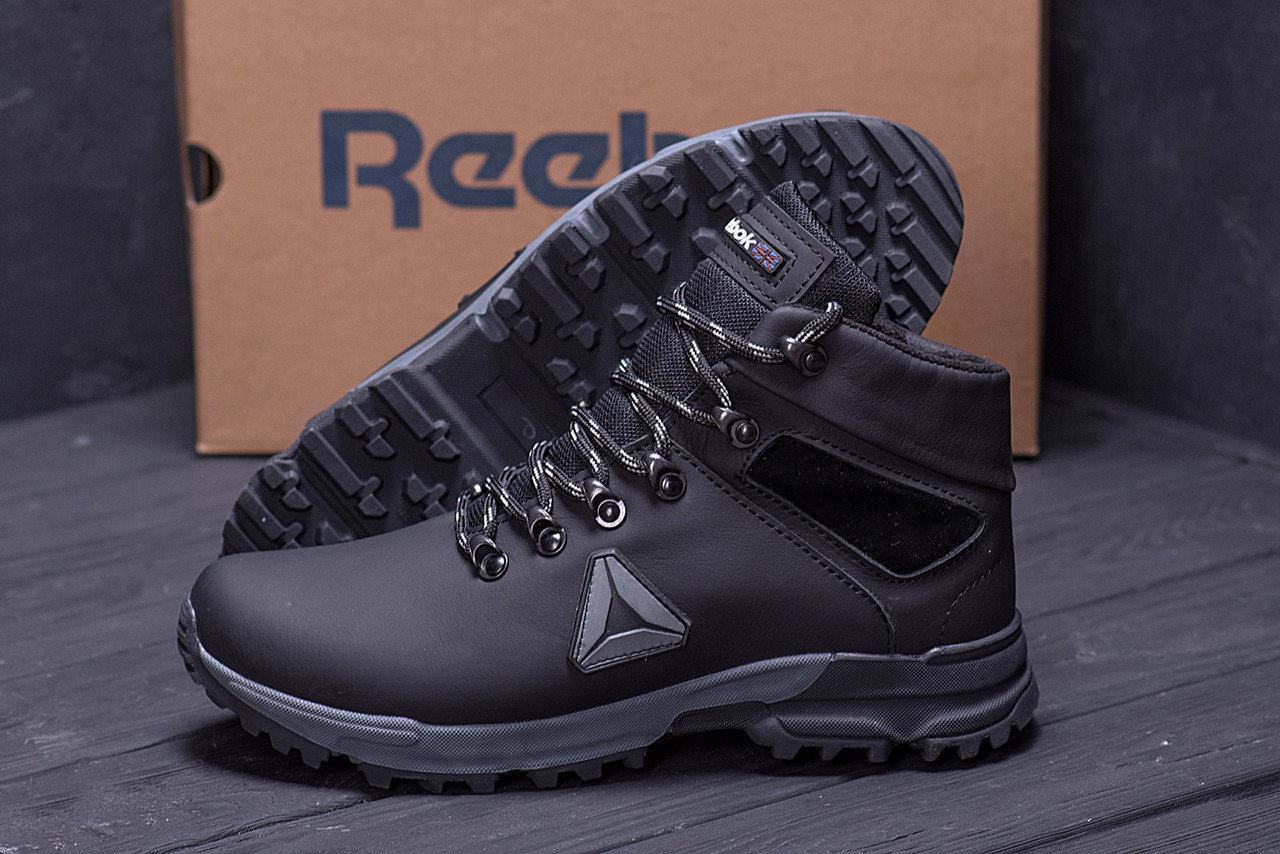 Мужские зимние кожаные ботинки в стиле Reebok Black