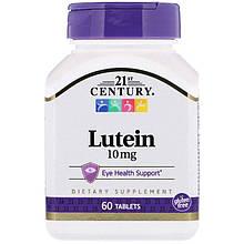 "Лютеин для зрения 21st Century ""Lutein"" 10 мг (60 таблеток)"