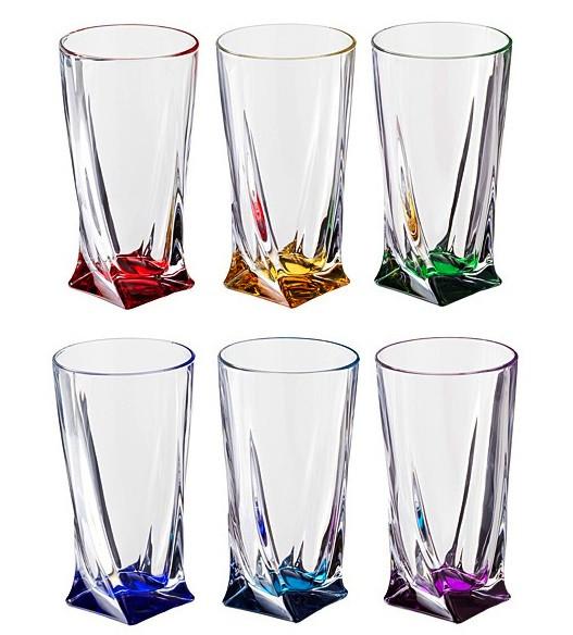 Набор стаканов для сока 350 мл 6 шт Quadro Bohemia 99999/72T76/182