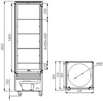 Шкаф кондитерский Carboma R400Cвр Люкс, фото 2