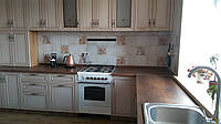 Кухня Кассино рамка 3400х3725 мм Клен белый + патина