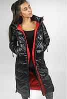 Пуховое пальто женское FREEVER 9837 черное, фото 1