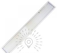Прямоугольная светодиодная панель 36Вт 6500К,1195x180x19мм, колотый лёд