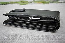Тонкое портмоне мужское H_14 Hassion, натуральная кожа, фото 2
