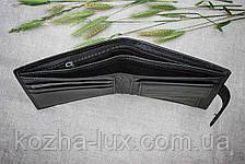 Тонкое портмоне мужское H_14 Hassion, натуральная кожа, фото 3