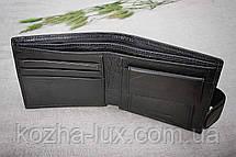 Тонкое портмоне мужское кожаное H_14 Hassion, натуральная кожа, фото 2