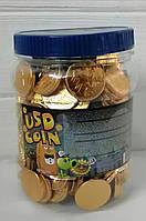 Шоколадные конфеты монеты евро USD Coln 200шт