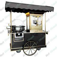 Прилавок + аппарат для сладкой ваты + машина для попкорна GGM Gastro PZWY10S