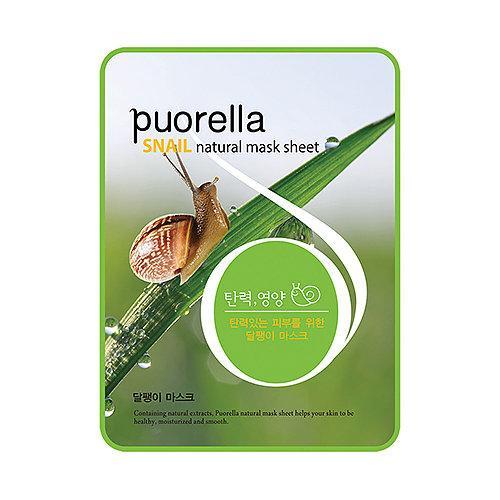 Тканевая маска с муцином улитки Puorella Snail mask sheet