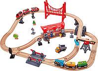 Набор железной дороги Hape Город (E3730)