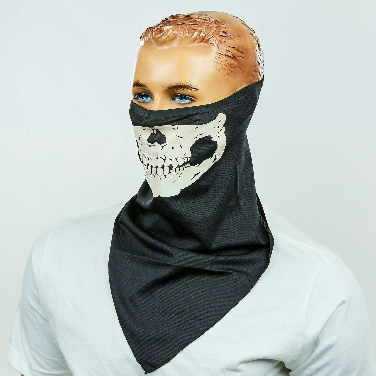 Подшлемник-баф скелет светяшийся
