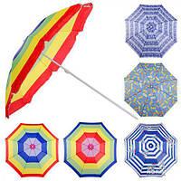 """Зонт пляжный d1.8 м (0038) (Уценка) Синий """"С ракушками"""""""