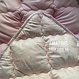 """Одеяло Евро на холлофайбере """"ODA"""" 200*220 см   Тепла ковдра, наповнювач холлофайбер. Стеганое одеяло ОДА, фото 2"""