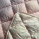 """Одеяло Евро на холлофайбере """"ODA"""" 200*220 см   Тепла ковдра, наповнювач холлофайбер. Стеганое одеяло ОДА, фото 3"""