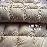 """Одеяло Евро на холлофайбере """"ODA"""" 200*220 см   Тепла ковдра, наповнювач холлофайбер. Стеганое одеяло ОДА, фото 4"""