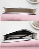 """Женская голографическая блестящая сумочка на цепочке """"БЛЕСК4"""" розовая, фото 4"""