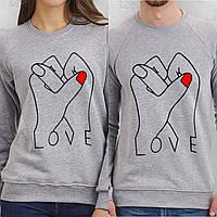 Парные свитшоты. Толстовки. Регланы для влюбленных. Руки