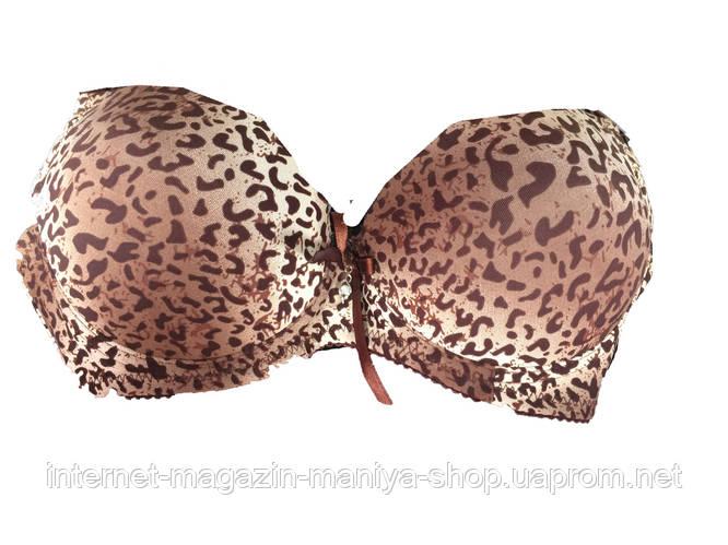 Женский бюстгальтер леопард