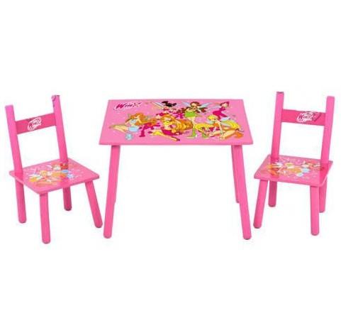 Деревянный столик и два стульчика, серия мультик, Феи Winx, Украина