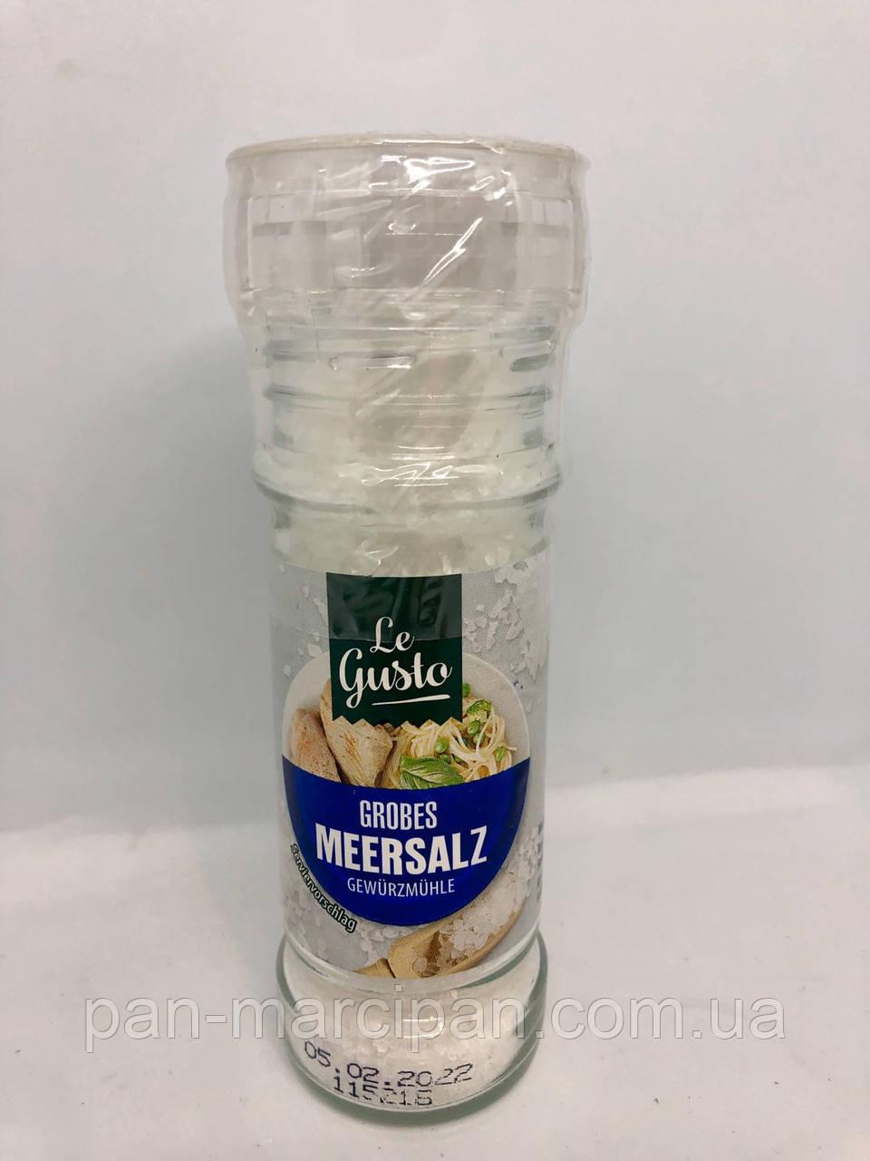 Морська сіль у млинку Le Gusto Grobes Meersalz 110г