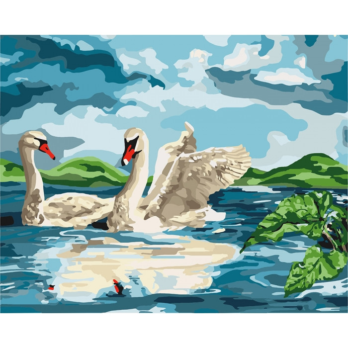 Картина по номерам Возле озера KH4147 Идейка 40 х 50 см
