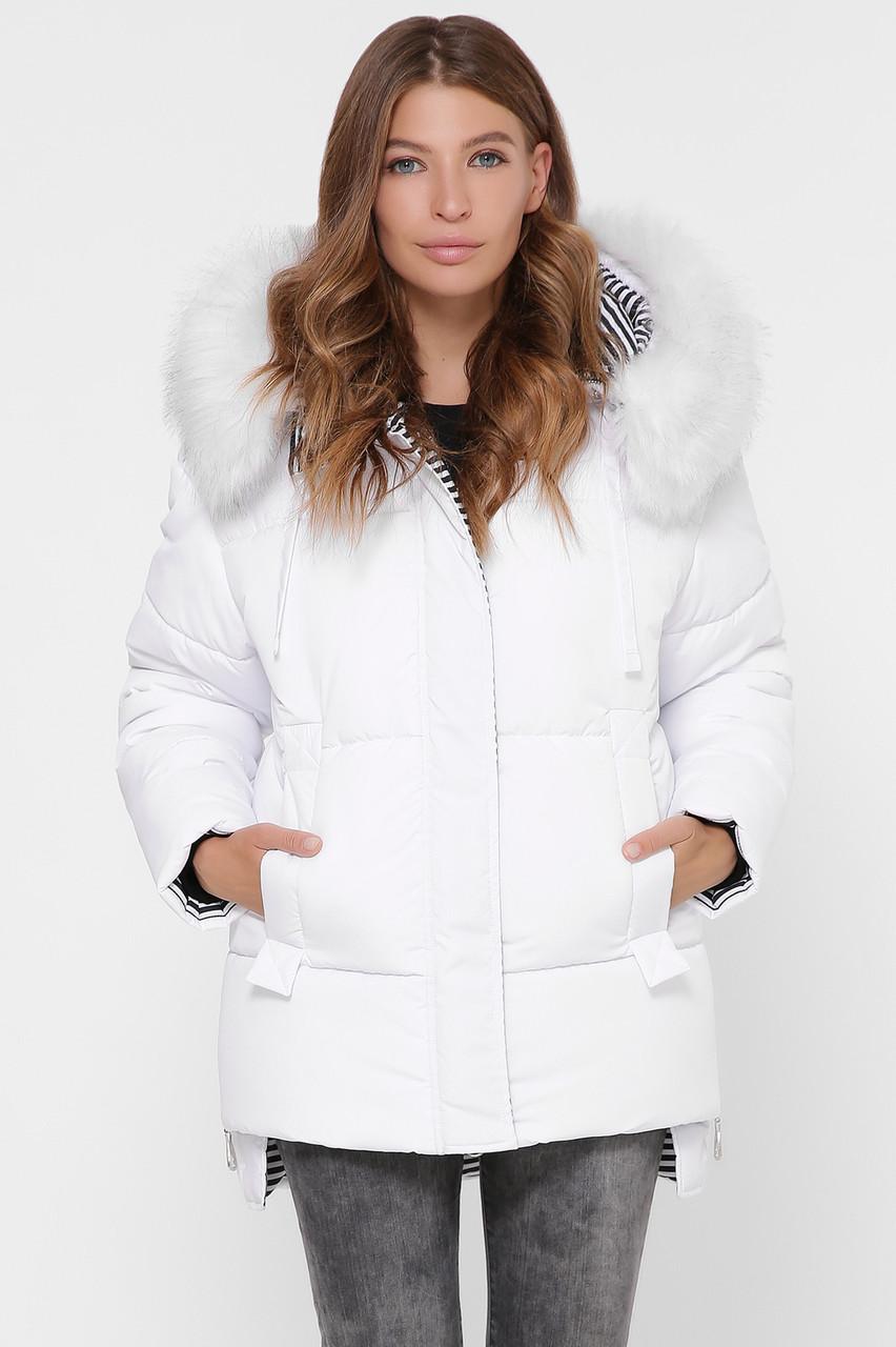 Зимняя короткая куртка женская с мехом