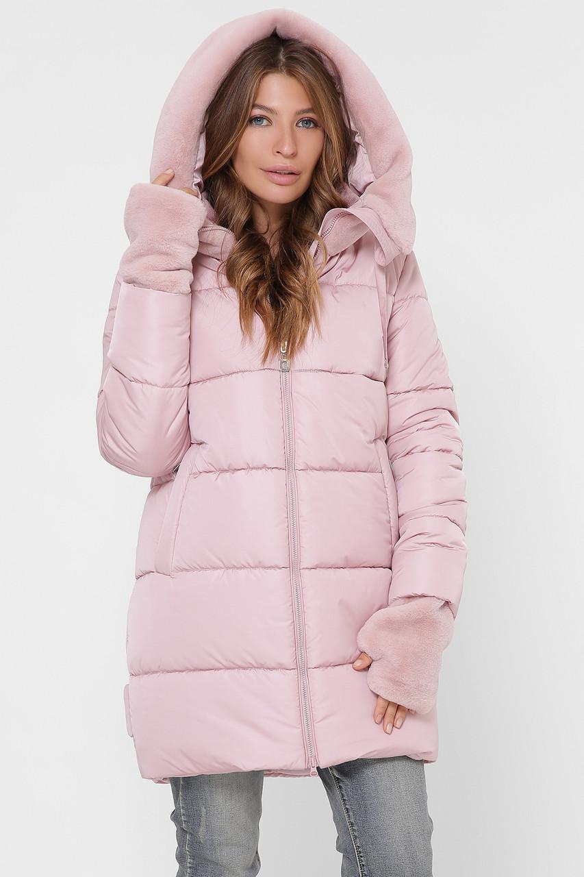 Зимняя удлиненная женская куртка женская