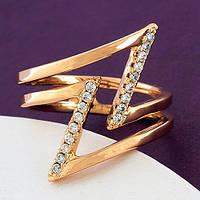 Позолоченное женское кольцо. Медицинский сплав Xuping