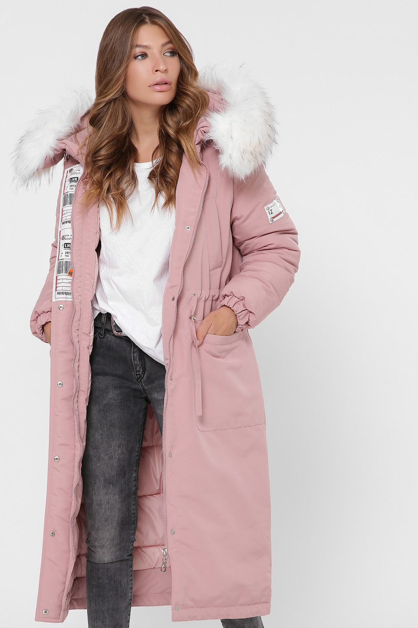 Пальто женское с искусственным мехом р.48-52