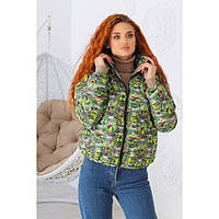 Куртка женская яркая 43828 норма и бат