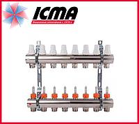 """Коллектор с расходомерами 1"""" на 8 выходов Icma № К013"""