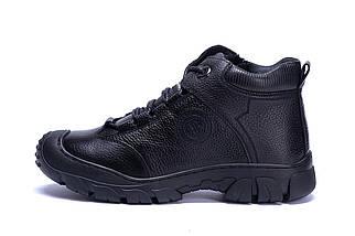 Мужские зимние кожаные ботинки в стиле Yalasou Sport System Black, фото 3