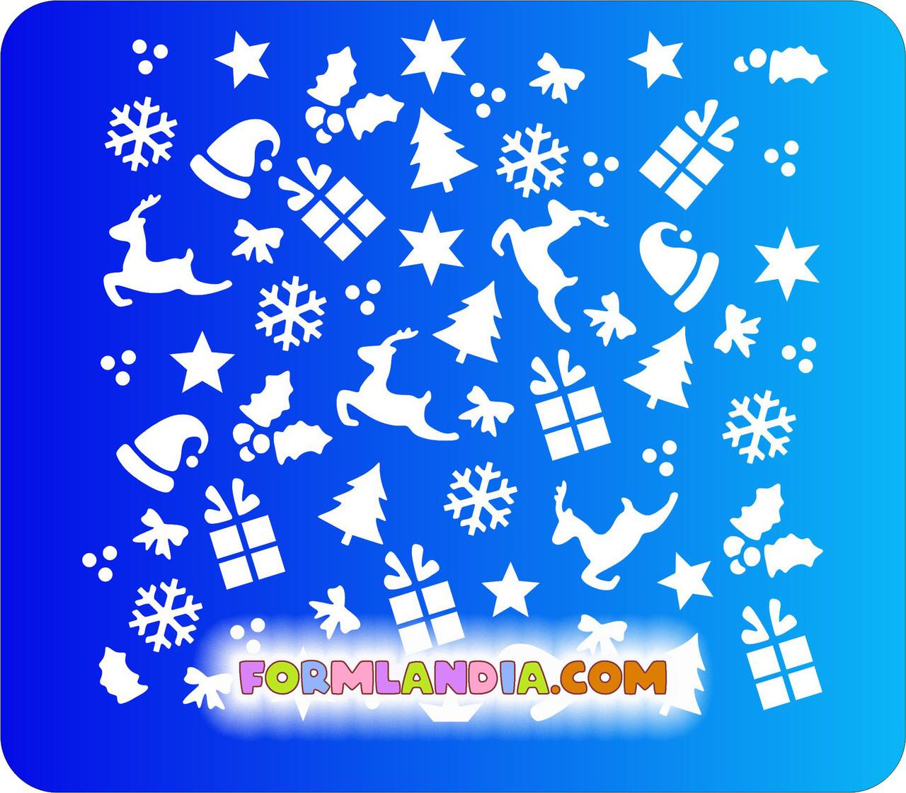 Трафарет для пряников Новый год №6