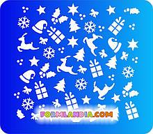 Трафарет для пряників Новий рік, №6
