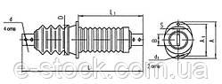 Изоляторы фарфоровые проходные ИП-6-400, Изолятор ИП-6/400-3,75 УХЛ2, Изоляторы ИП-6/400-3,75