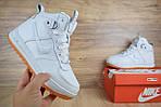 Мужские зимние кроссовки Nike Lunar Force 1 (белые), фото 2