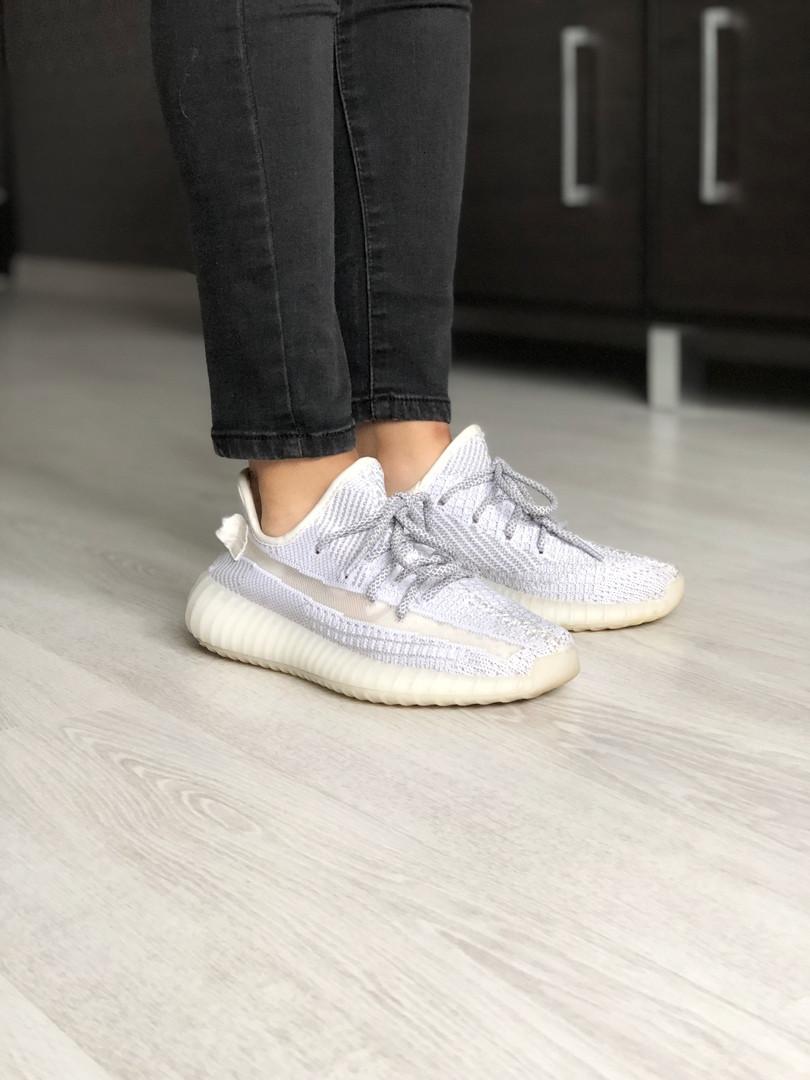Кроссовки мужские Adidas Yeezy 350 full reflective. 42-26,5см