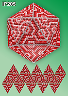 «Мозаика. Красный» Новогодний шар