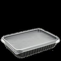 Контейнер с крышкой 500мл Черный. Для хол.блюд и разогрева в СВЧ 179*132*37мм (1уп/50 шт)